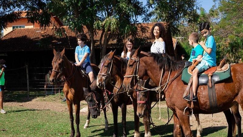 Lazer para todas as idades No Hotel Fazenda Sitio Castelinho